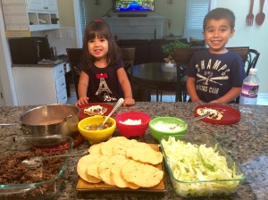 They are sooo excited to start building their tostadas!