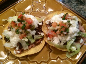 This is my tostadas. I used ALL toppings!